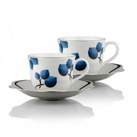 Giftsuncommon - Blueberry Large Cup Saucer Set of 2