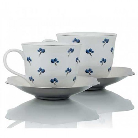 Giftsuncommon - Blueberry Small Cup Saucer Set of 2