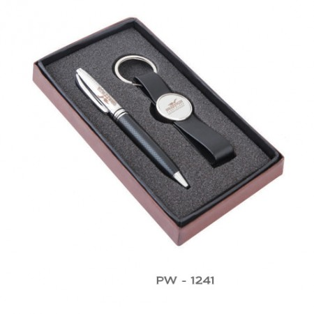 Giftsuncommon - Pen Gift Set With Leather Keychain