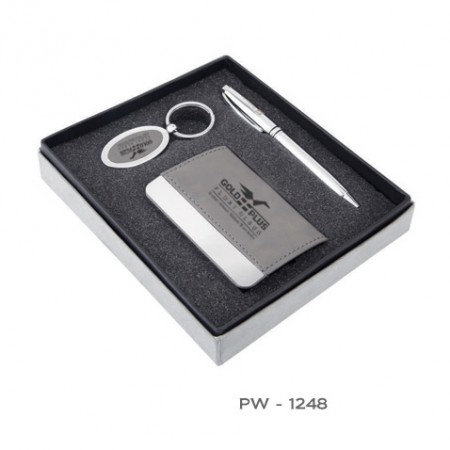 Giftsuncommon - Grey Color Executive Pen Gift Set