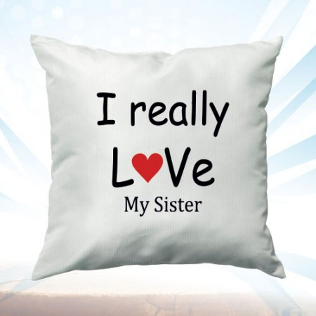 Giftsuncommon - Love My Sister Printed Cushion