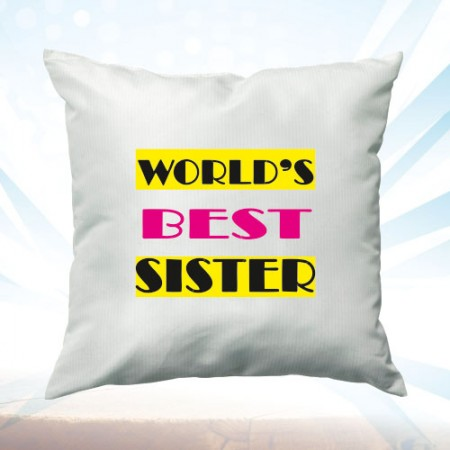 Giftsuncommon - Best Sister Printed White Cushion