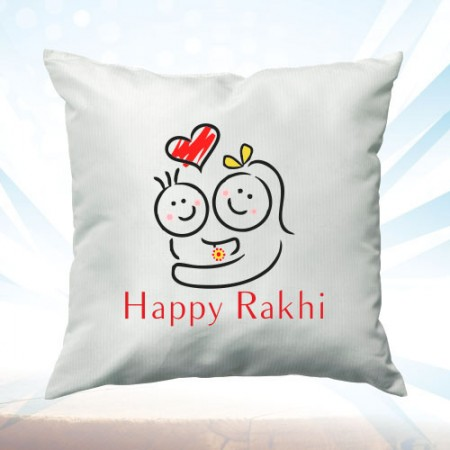 Giftsuncommon - Happy Rakhi Printed Cushion
