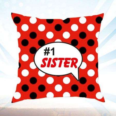 Giftsuncommon - Red Cushion Number 1 Sister Printed