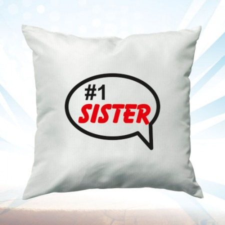 Giftsuncommon - White Cushion Number 1 Sister Printed