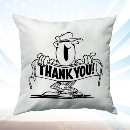 Giftsuncommon - Printed Thank You Cushion