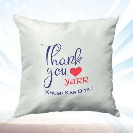 Giftsuncommon - Thank You Yaar Printed Cushion