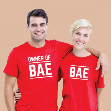 Giftsuncommon - Printed Couple T Shirt
