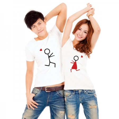Giftsuncommon - Image Printed T Shirt For Couple