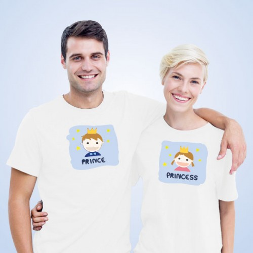 Giftsuncommon - Prince White Couple T Shirt