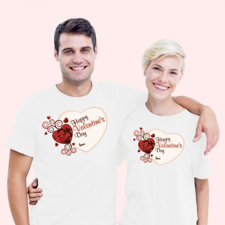 Giftsuncommon - Valentine Day Couple T Shirt White