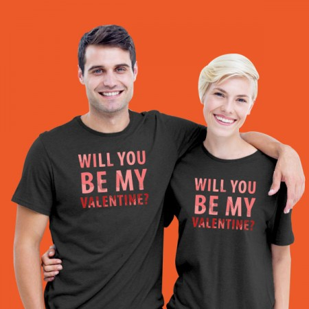 Giftsuncommon - Will Be My Valentine Couple T Shirt