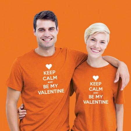 Giftsuncommon - Keep Calm Valentine Couple T Shirt