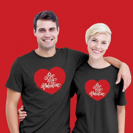 Giftsuncommon - Printed Valentines Day Couple T Shirt