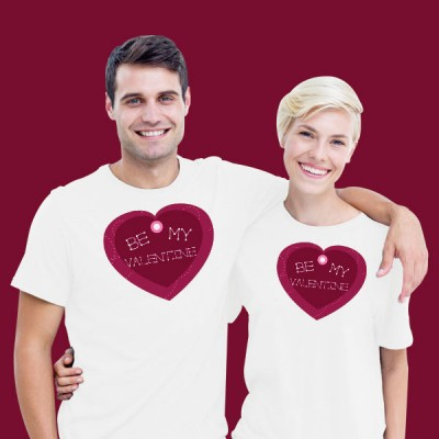 Giftsuncommon - White Valentines Day Couple T Shirt
