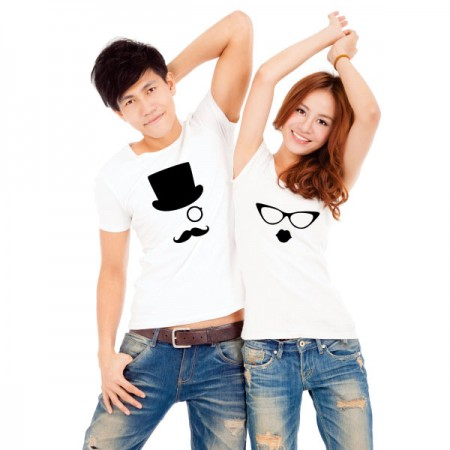 Giftsuncommon - Print Your Own Couple T Shirt