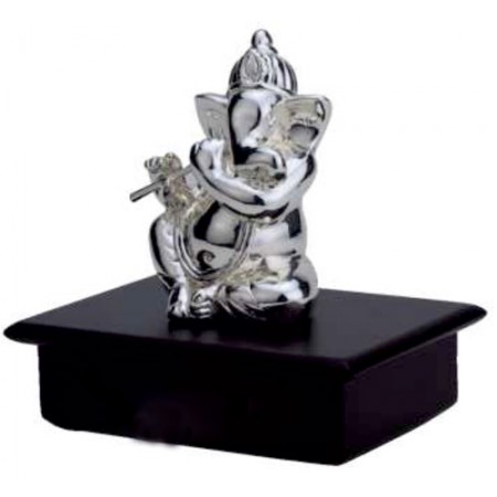 Giftsuncommon - Silver Flute Playing Ganesha