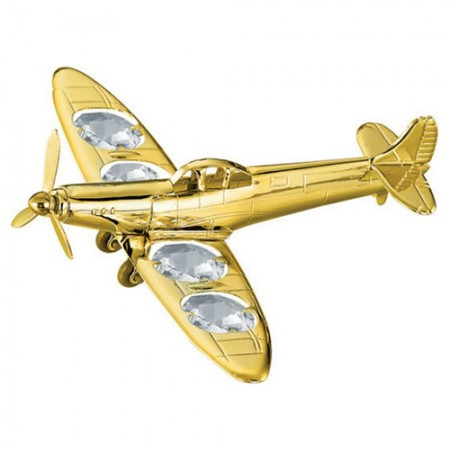 Giftsuncommon - Spit Fire Gold Plated Aeroplane