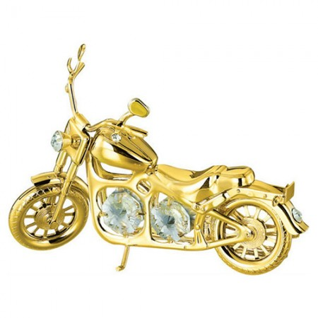 Giftsuncommon - Gold Plated Harley Davidson Motor Cycle