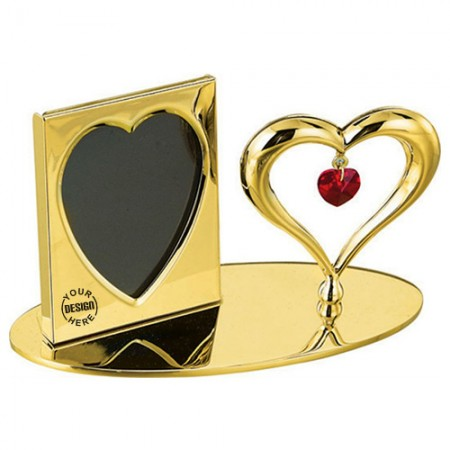 Giftsuncommon - Gold Plated Heart Photo Frame