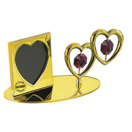 Giftsuncommon - Double Heart Photo Frame Golden