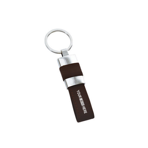 Giftsuncommon - Brown Leather Key Chain
