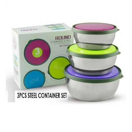 Giftsuncommon - 3 Pcs Steel Container Set