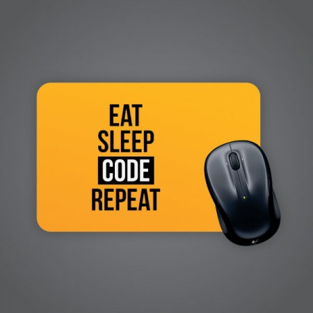 Giftsuncommon - Eat Code Sleep Repeat Printed Mousepad