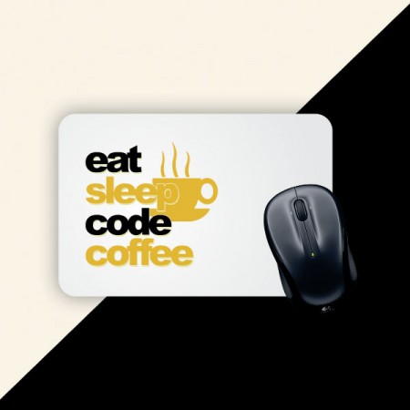 Giftsuncommon - Eat Sleep Code Coffee Printed Mousepad