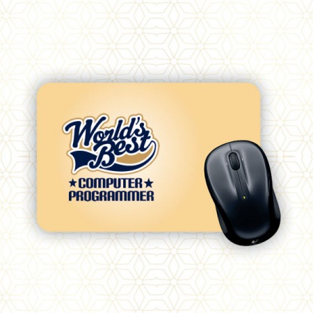 Giftsuncommon - Worlds Best Programmer Printed Mousepad