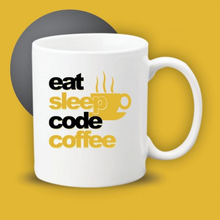 Giftsuncommon - Eat Sleep Code Coffee Printed Mug