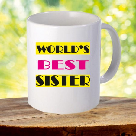 Giftsuncommon - Best Sister Printed White Mug