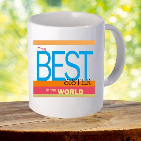 Giftsuncommon - Printed Best Sister White Mug