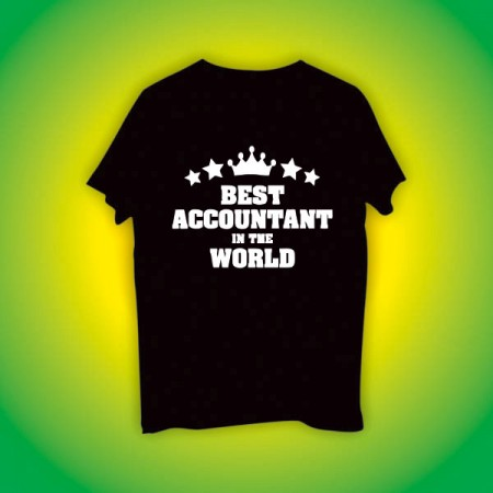 Giftsuncommon - Best Accountant Printed Tshirt