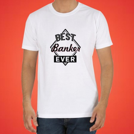 Giftsuncommon - Best Banker Ever Printed Tshirt