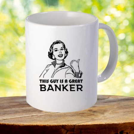 Giftsuncommon - Great Banker Printed Mug