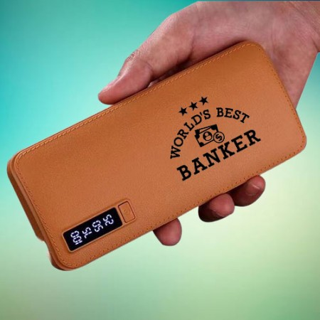 Giftsuncommon - Printed Best Banker Power Bank