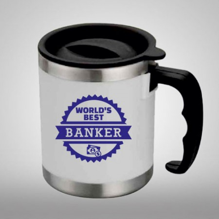 Giftsuncommon - World's Best Banker Printed Oz Mug