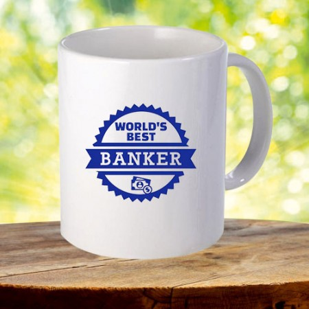 Giftsuncommon - World's Best Banker Printed Mug