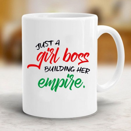 Giftsuncommon - Girl Boss Building Empire Printed Mug