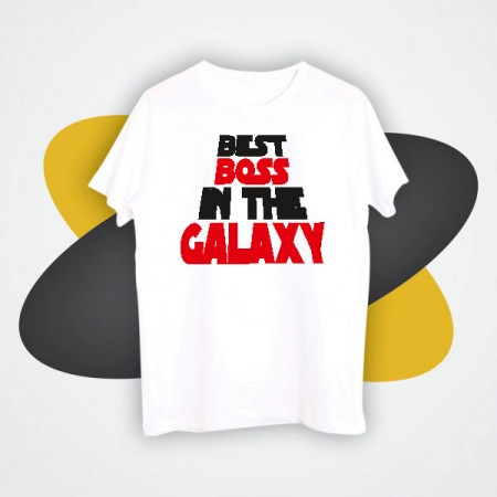 Giftsuncommon - Best Boss Galaxy Printed Tshirt
