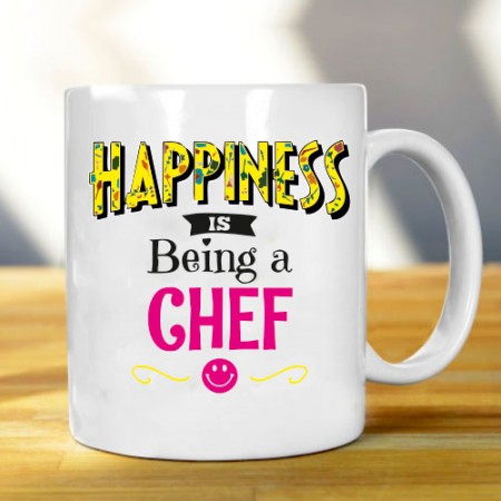 Giftsuncommon - Happiness Being Chef Mug