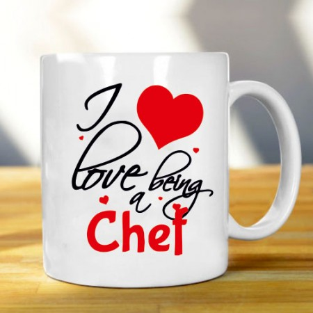 Giftsuncommon - I Love Being Chef Printed Mug