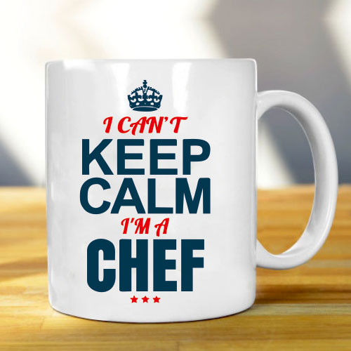 Giftsuncommon - Keep Calm Chef Printed Mug