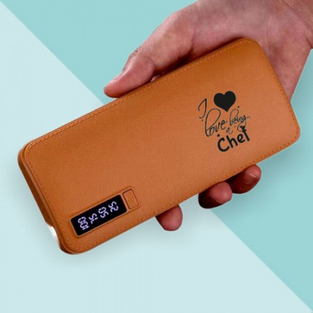 Giftsuncommon - I Love Being Chef Printed Powerbank