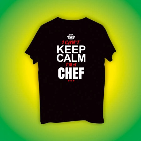 Giftsuncommon - Keep Calm Chef Printed Tshirt