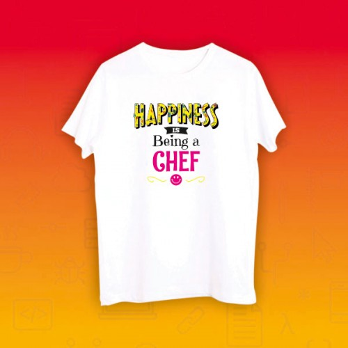Giftsuncommon - Happiness Being Chef Tshirt