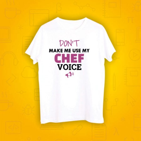 Giftsuncommon - Chef Voice Printed Tshirt