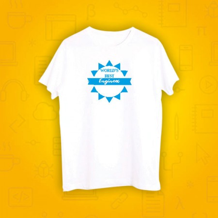 Giftsuncommon - Worlds Best Engineer Printed Tshirt