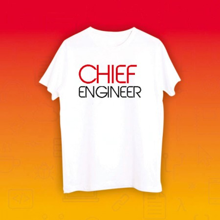 Giftsuncommon - Chief Engineer Printed Tshirt